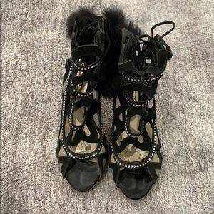 Awesome lace up suede booties